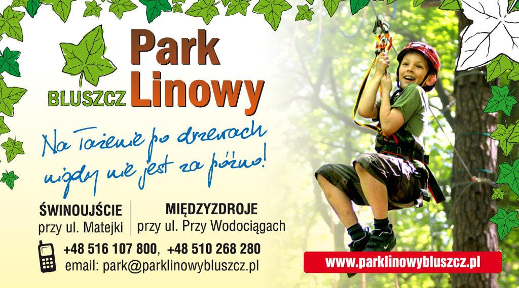 Kontakt Park Linowy Bluszcz Telefon Świnoujście Międzyzdroje Email