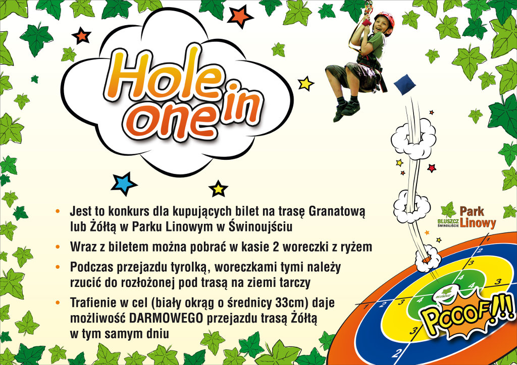 Konkurs Hole-in-one Park Linowy