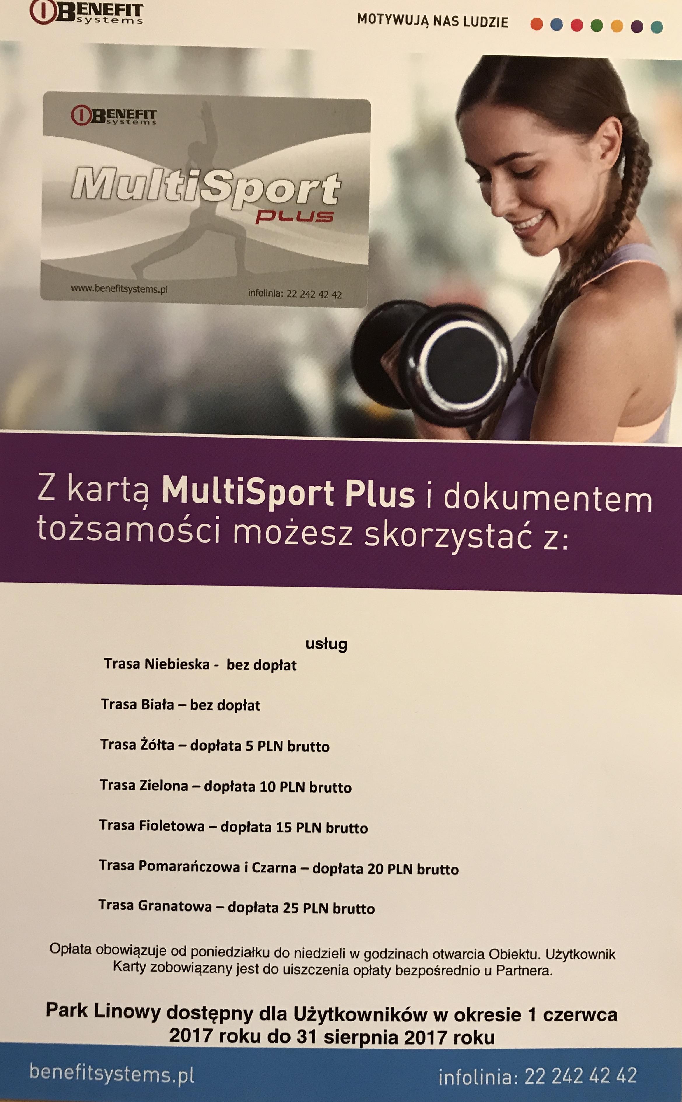 Karty Multisport Doplacaja 15 Zl Do Kazdej Trasy Park Linowy Bluszcz