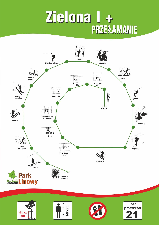 Trasa Zielona Plus Park Linowy Bluszcz Świnoujście