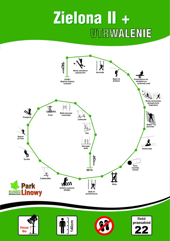 Trasa Zielona Park Linowy Bluszcz Świnoujście
